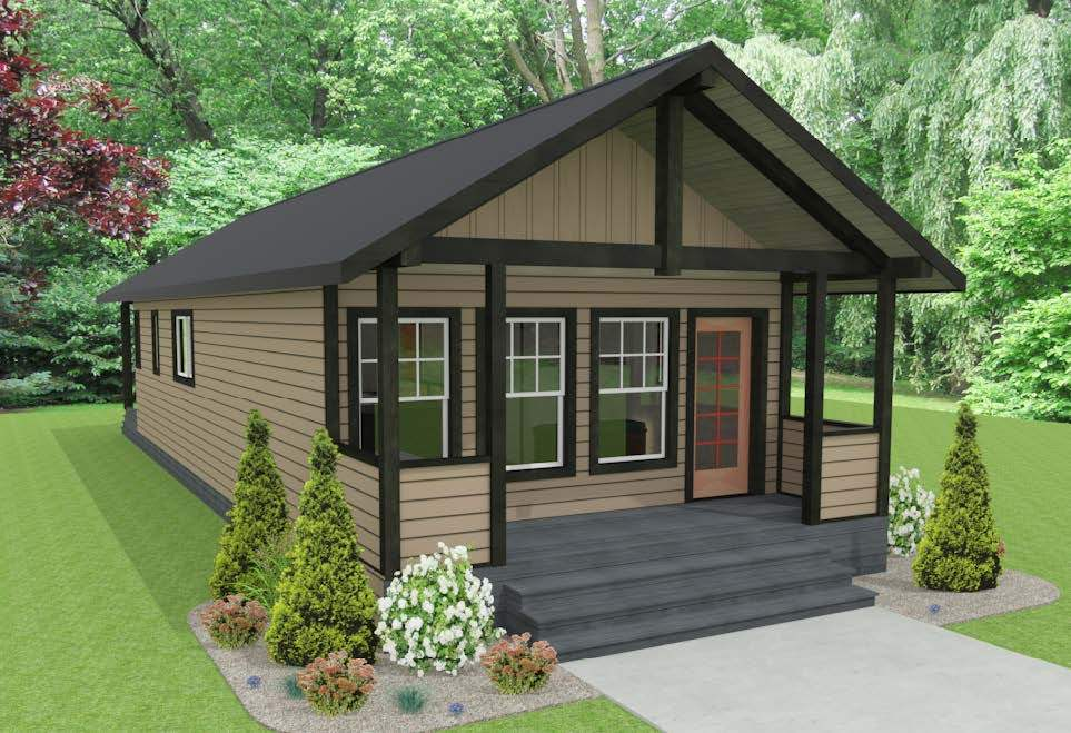 A Cabin designed by Abe Neufeld using Chief Architect Software.