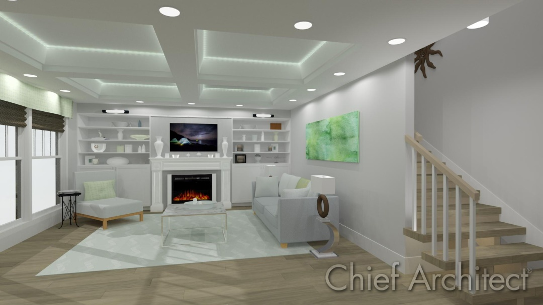 Chief Architect Tray Ceiling Coffered