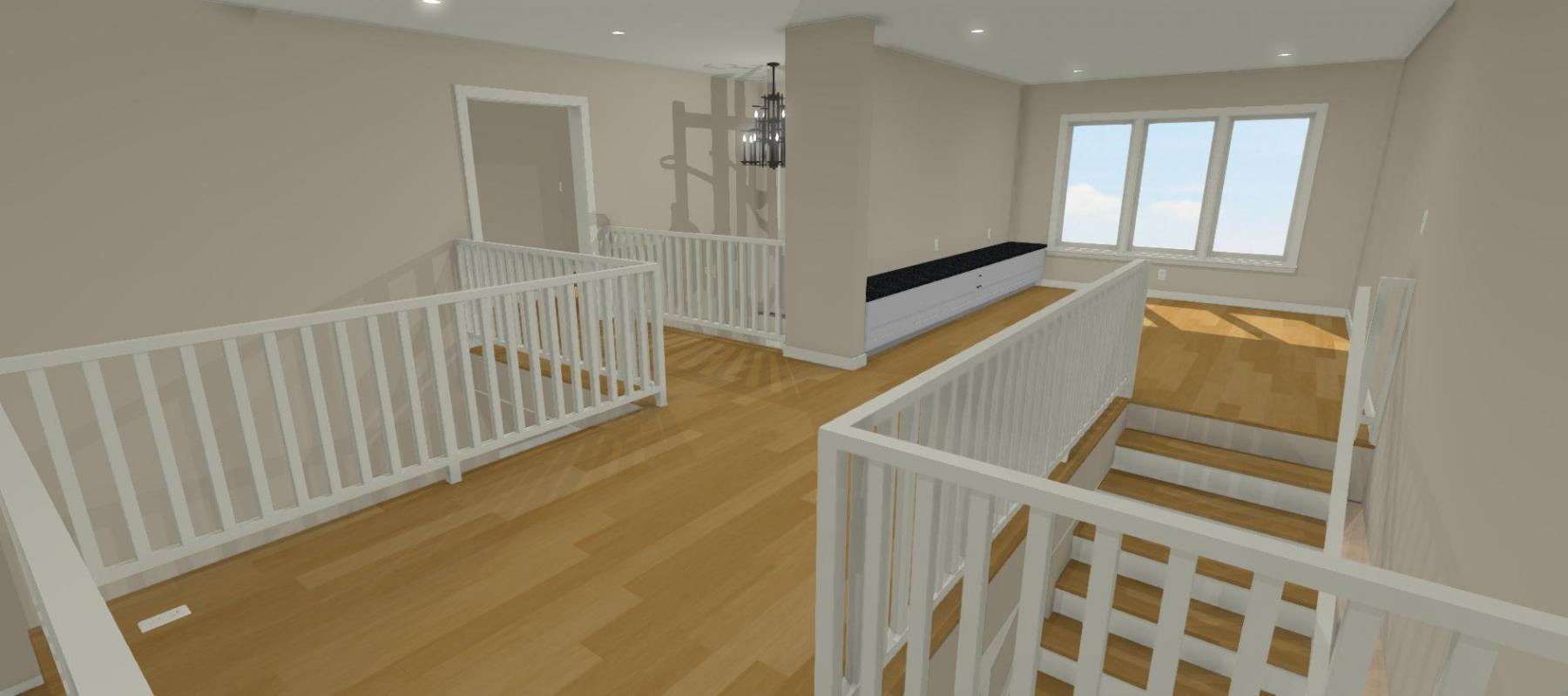 Cody's Winning Design Second Floor Hallway.