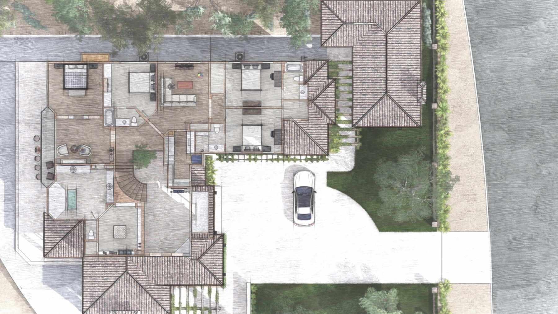 Floorplan view of house