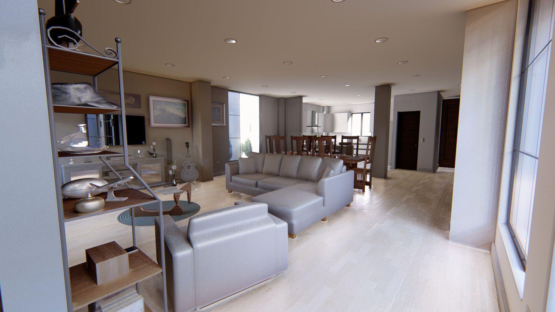 Floor plan features open living spaces
