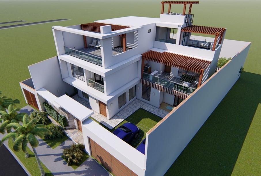 Three-story Modern home
