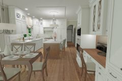 Stephanie Mazetta's Warm Modern kitchen design with a lot of cabinet storage and cool colors.