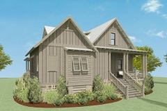 Walnut Cottage Exterior Render showcasing the Front Entry