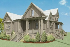 Walnut Cottage Exterior Render showcasing the Front Porch