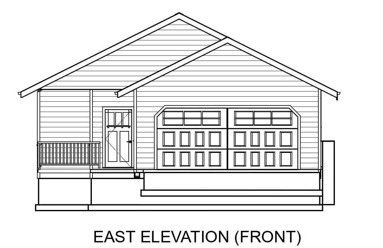 Norman's Winning Design East Elevation View.