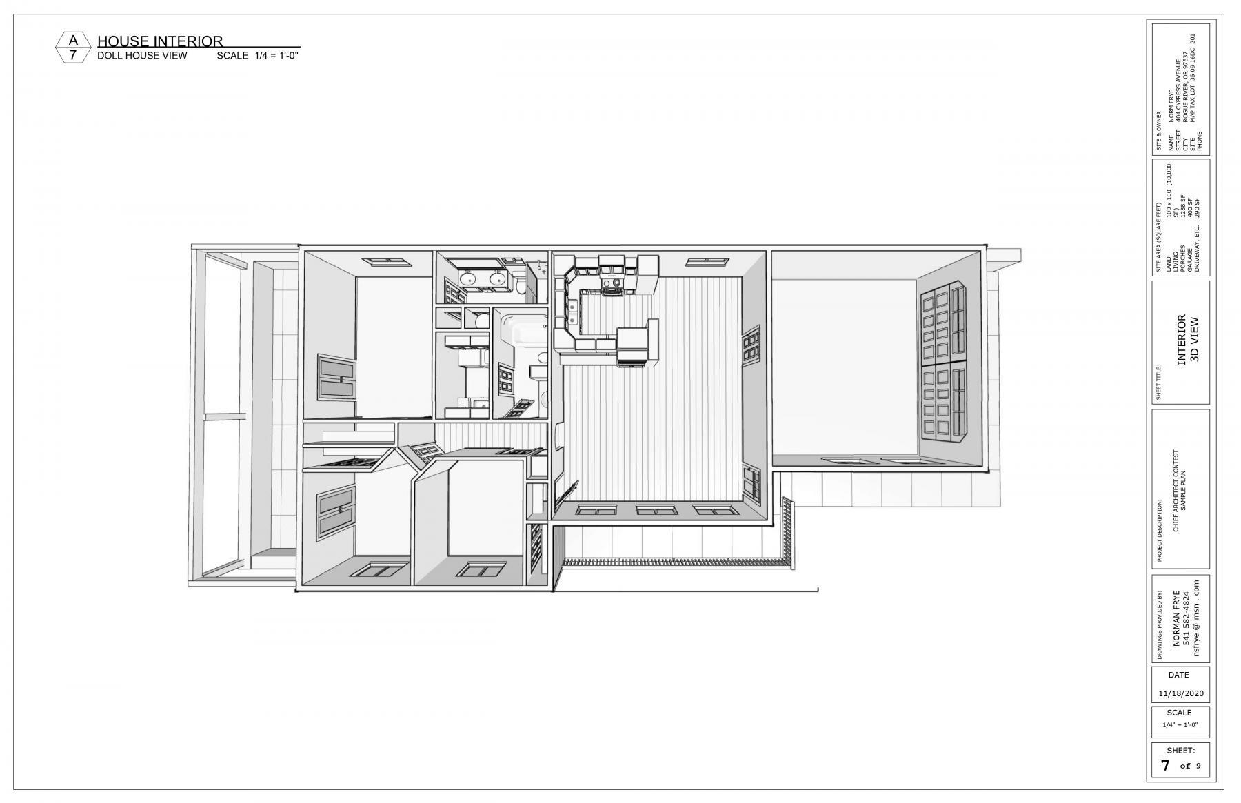 Norman's Winning Design Dollhouse View.