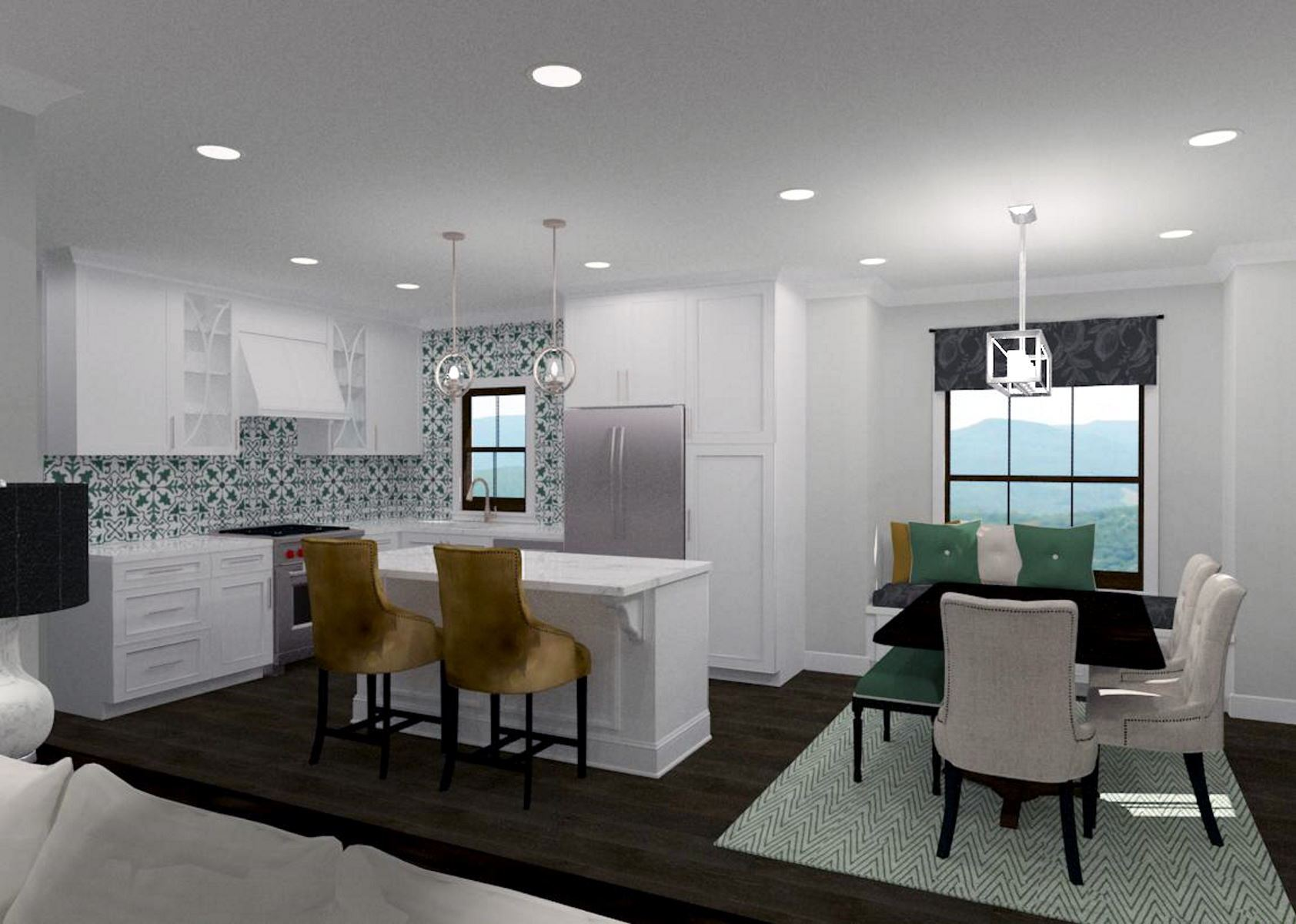 Kitchen with adjacent dining area