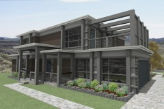 Ethan Smith's Modern, residential home design with exposed steel framing.
