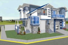 Rodante Bernabe's Modern 2 story home with brick accents.