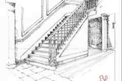 Pen and Ink Staircase Details