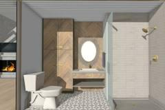 Modern Farmhouse powder room remodel.