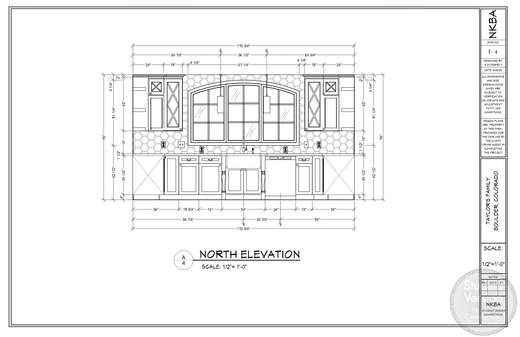 North elevation view