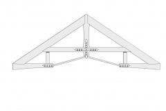 Custom truss CAD detail.