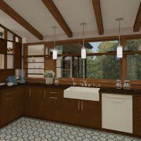 Jenna Mattison Kitchen Design with Ceiling Beams