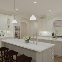 Jenna Mattison Kitchen Design with Double Island