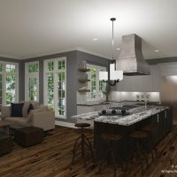 Jenna Mattison Open Kitchen design with rustic accents
