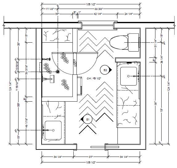Rachel McGinley's Winning Bathroom Floorplan