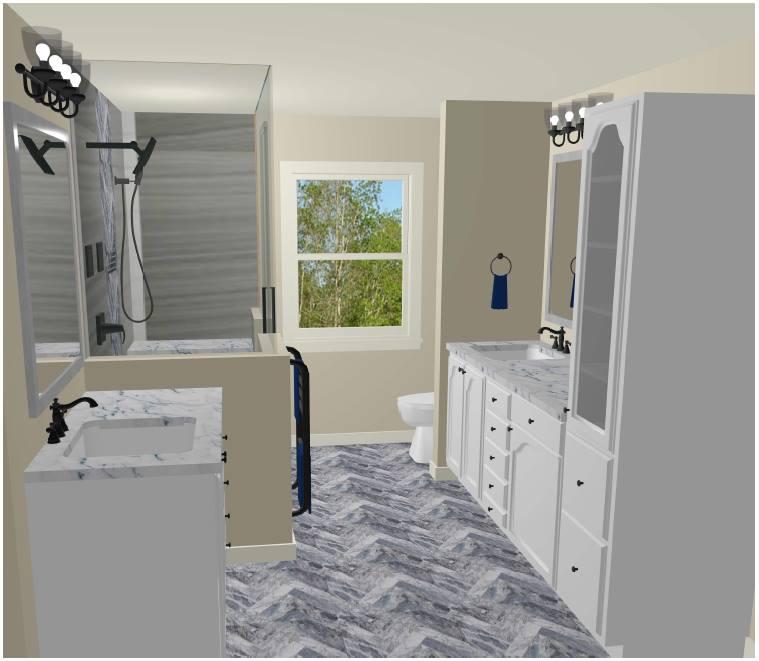 Rachel McGinley's Winning Bathroom Design Rendering