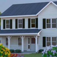 Scott Turner - White Traditional Home Design