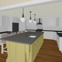 Monika Ross - Yellow Island Kitchen Design