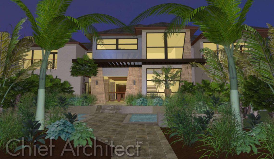 Asian inspired modern home design.