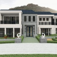 Home design captured mountain with views of the esteemed Camelback Mountain in Phoenix, Arizona.