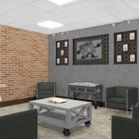 Interior remodel for a car repair waiting room