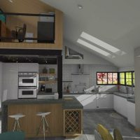 efficient use of space in kitchen nook