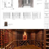 elevations of grand wine room