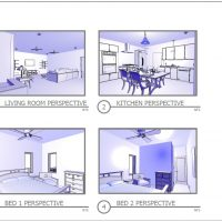 Layout of perspective views.