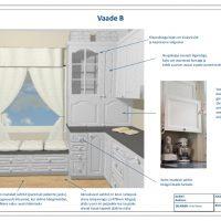 White kitchen design with appliance garage.