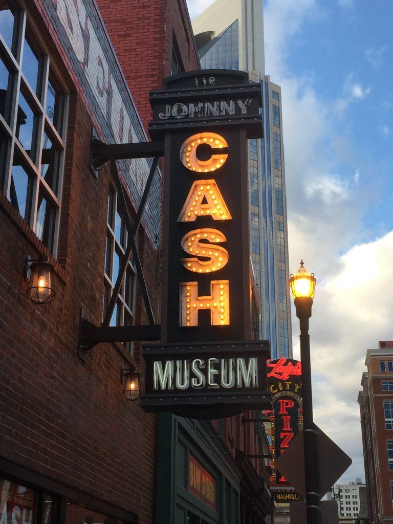 Johny Cash Museum in downtown Nashville