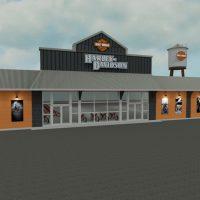 Harley Davidson Motorcycle Dealership rendering