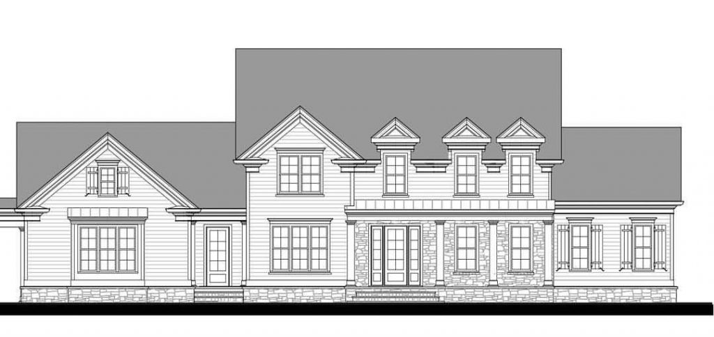 Elevation view of of a home design created within Chief Architect software.