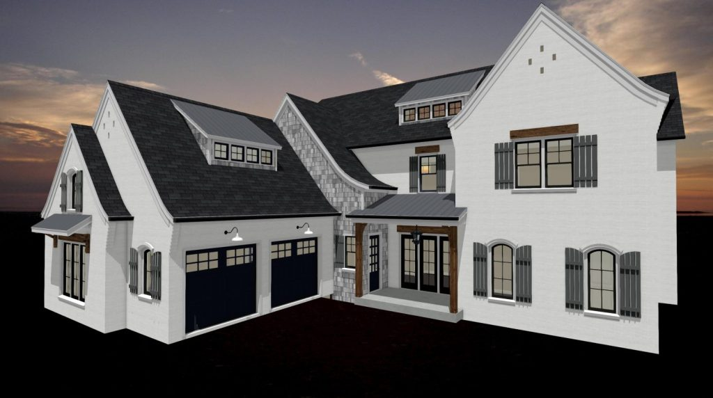 3D rendering of a home design created within Chief Architect software.
