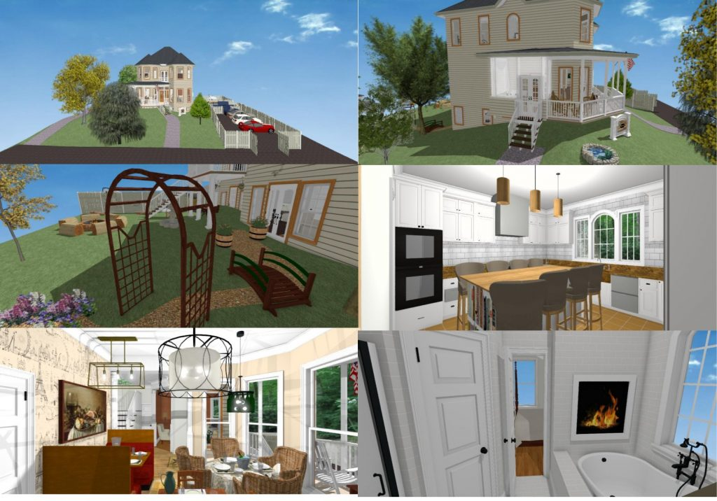 Colonial bed and breakfast residential design.