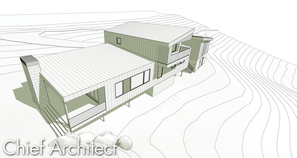 FHB California House Technical Illustration Rendering by Chief Architect Software