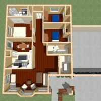 Dollhouse view of design