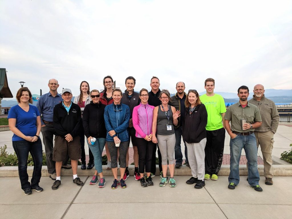 Chief Architect customers gathered for a morning hike at Tubbs Hill in Coeur d'Alene, Idaho.