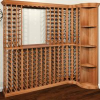 Wine cellar configuration designed by WineRacks.com and rendered in Chief Architect software.