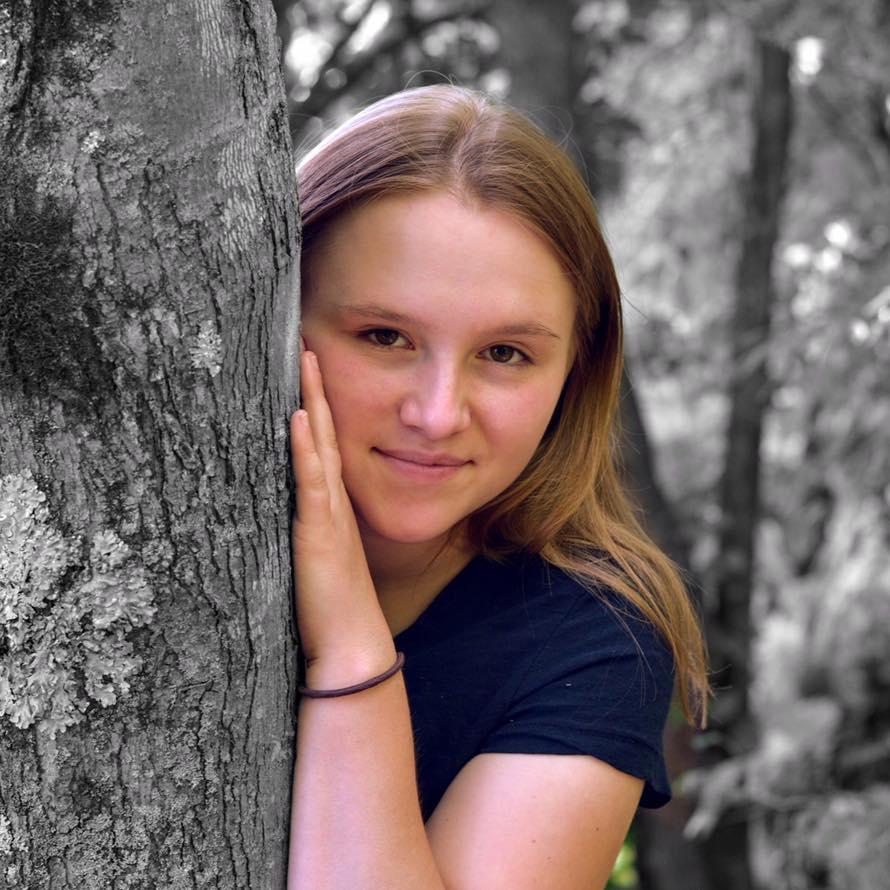 Design Contest Winner, Kaitlyn, in her senior photo