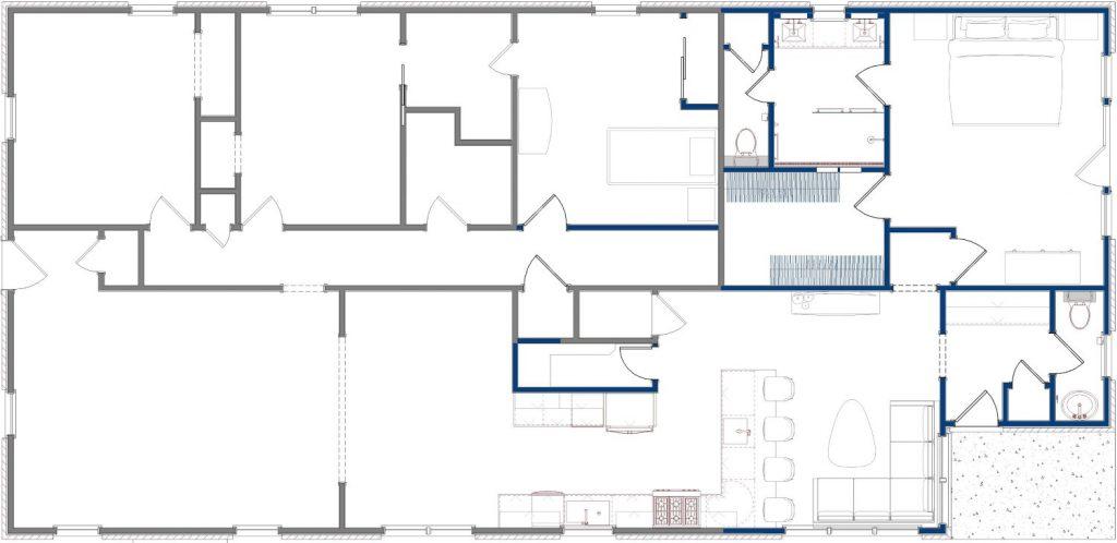 Original floor plan showing the interior space.