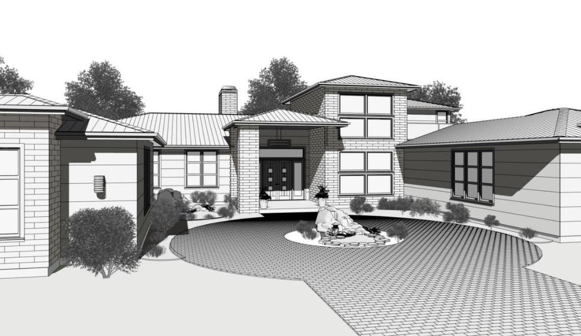 Technical Illustration of modern home design.