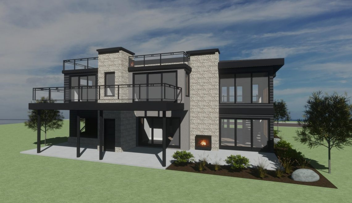 Modern two story home with rooftop balcony, and lots of natural light.
