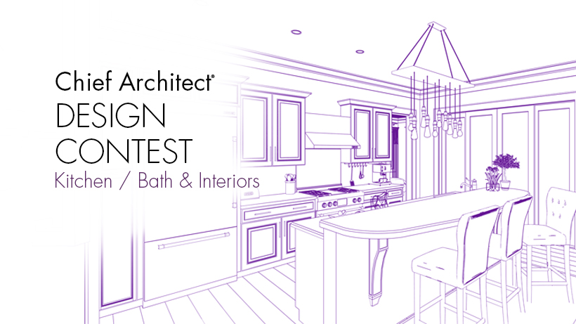 Chief Architect Kitchen Bath and Interior Design Contest graphic with a kitchen rendering.