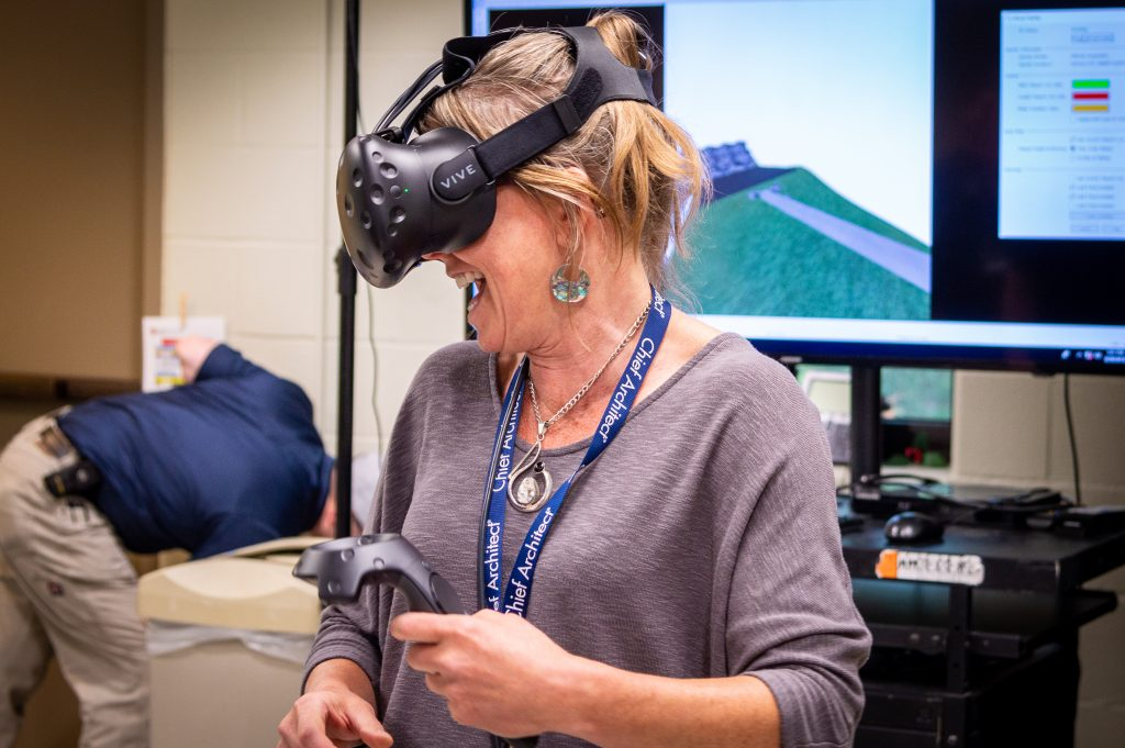 Chief Architect user testing out Virtual Reality.
