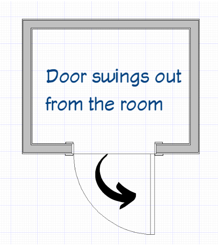 Door Outswing graphic