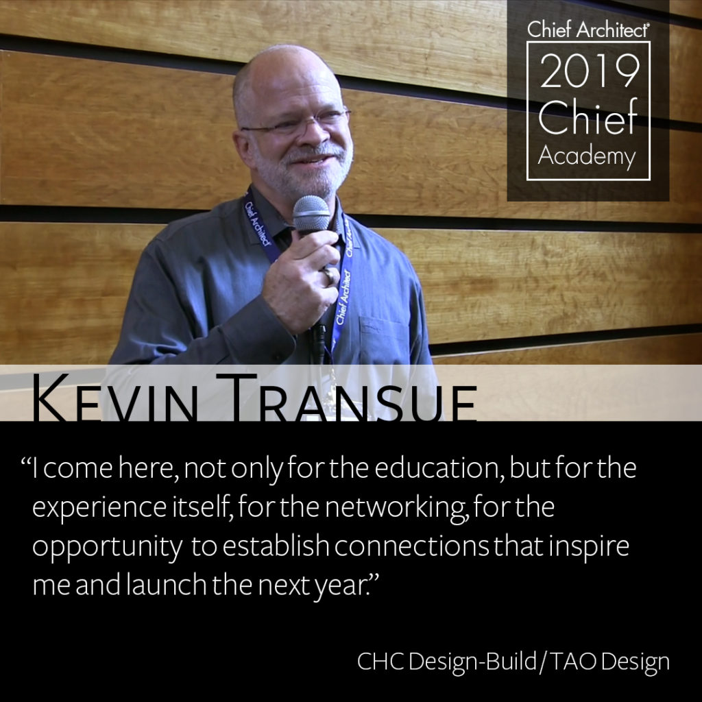 A photograph of Kevin Transue with his quote from his time at Chief Academy in September of 2019.