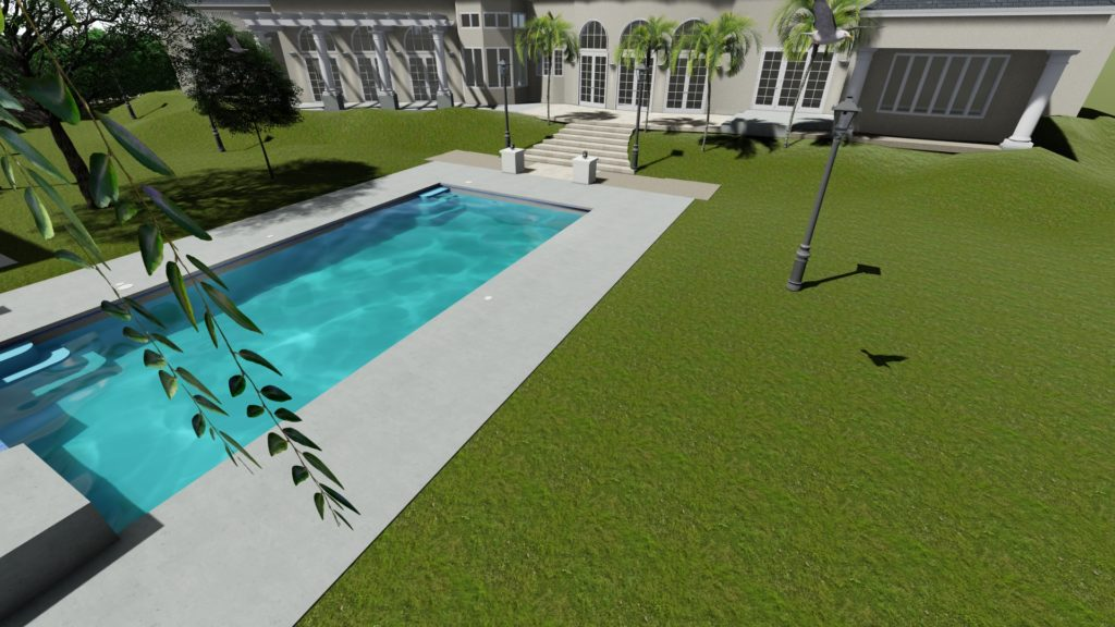 Outdoor pool design
